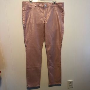 NWT New York & Company pink skinny jeans. Size 14